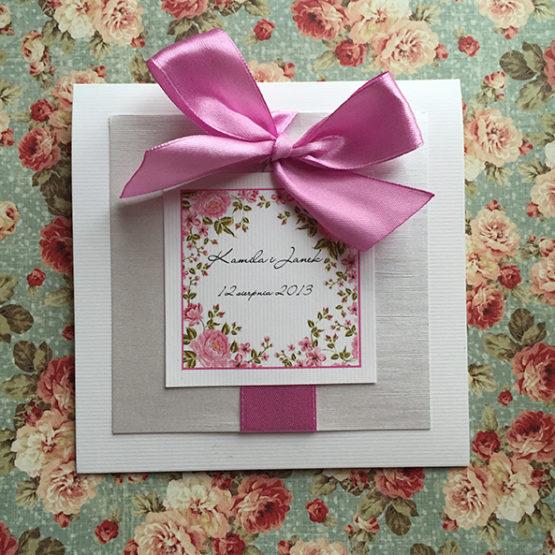 Zaproszenie Bagatel Flowers
