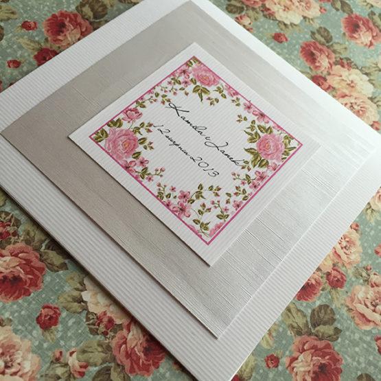 Zaproszenie Bagatel Flowers bez wstążki